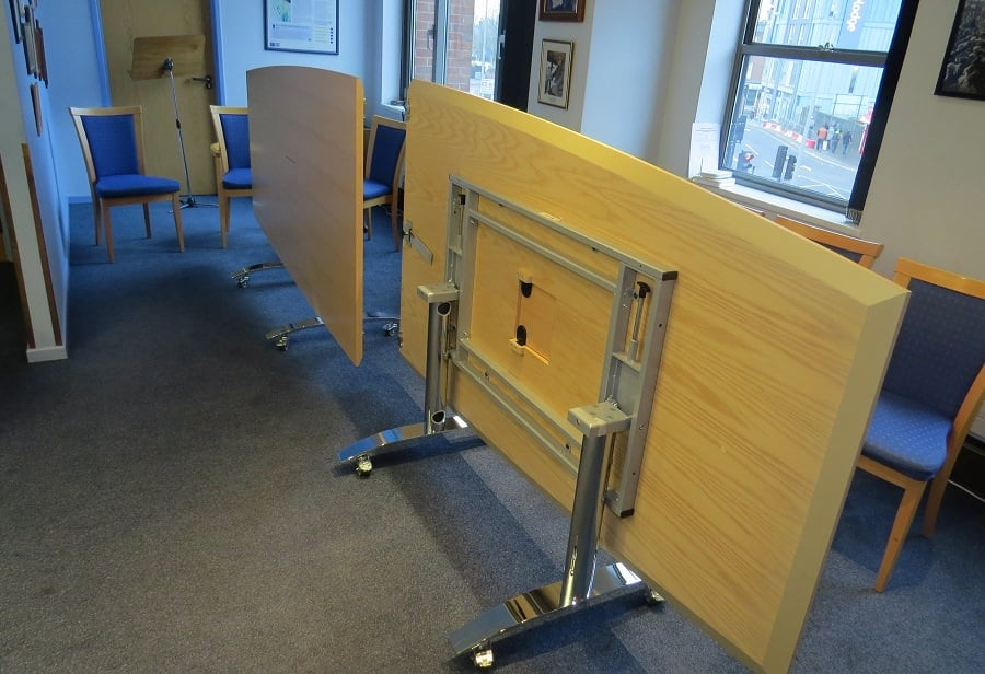 cable managed flip top meeting table