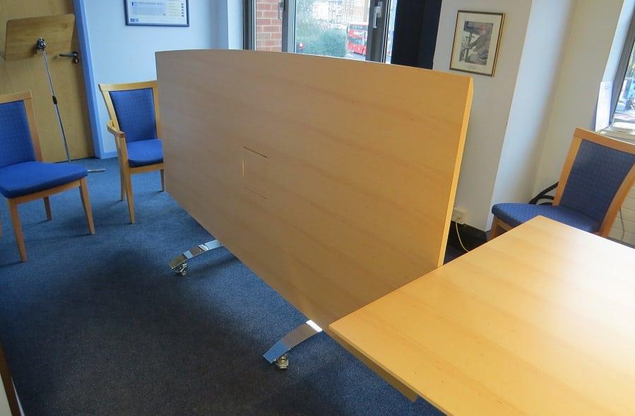 tilt-top meeting tables in veneer