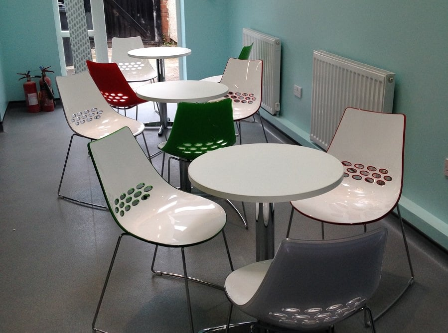 drop-in centre seating