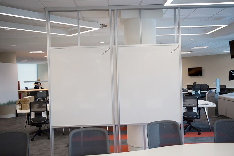 Office Whiteboard Walls Installed