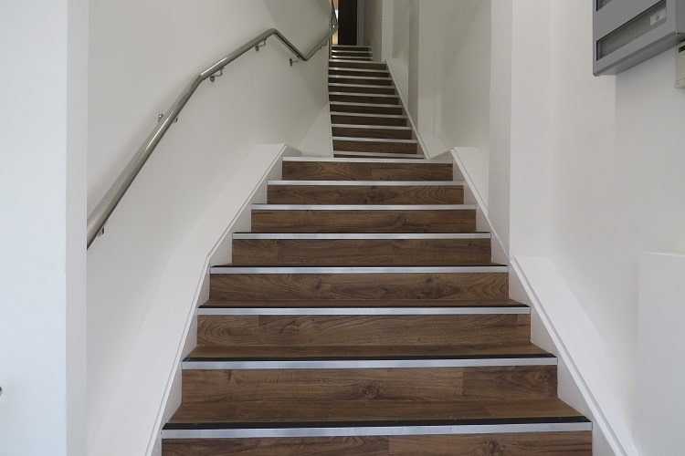 stairs with vinyl flooring