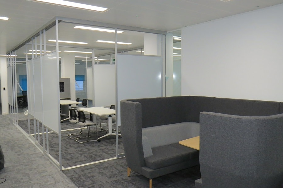 sliding whiteboard partition walls