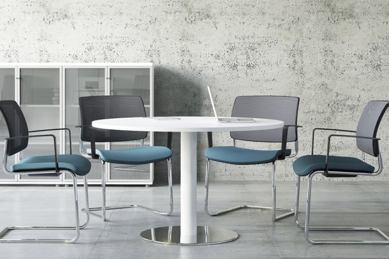 Wondrous Round Meeting Tables Fusion Office Design Home Interior And Landscaping Eliaenasavecom