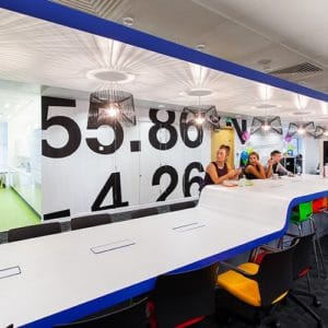 Increased office density equals decreased rent