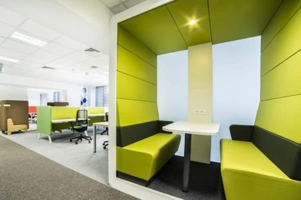 Internal office pods Workspace Booth Into The Nordic Silence Office Pods Fusion Office Design
