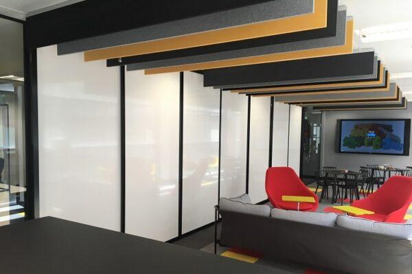 open plan whiteboard screens