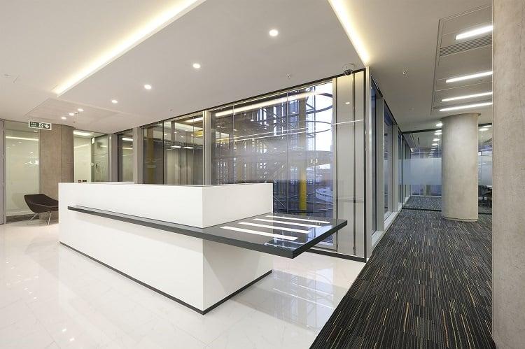 corian reception desk fusion office design
