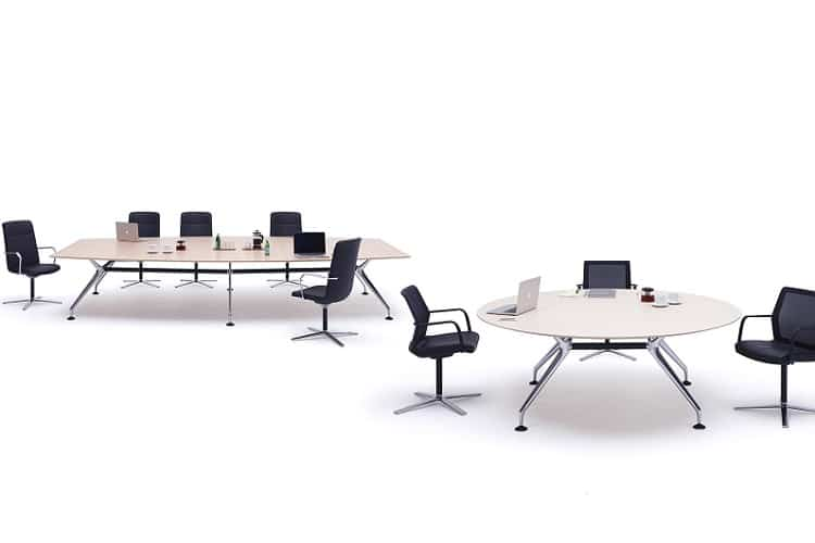 Groovy Round Meeting Tables Fusion Office Design Download Free Architecture Designs Viewormadebymaigaardcom