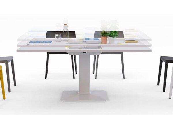 height adjustable meeting table