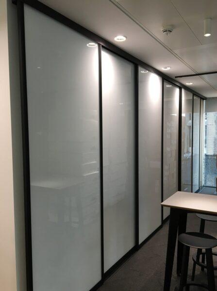 horizontal sliding whiteboards