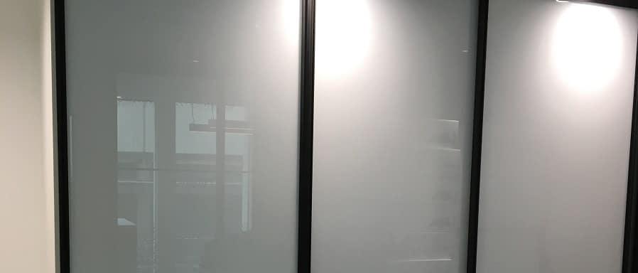 horizontal sliding whiteboard system