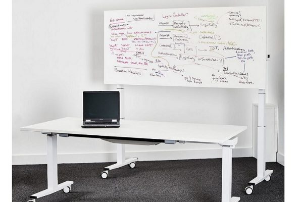sit stand flip top meeting table