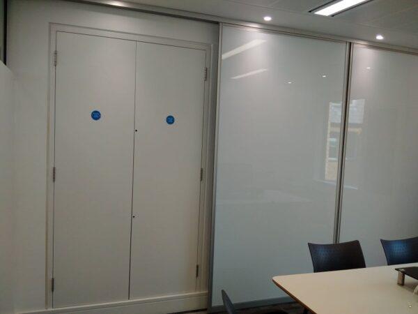 multiple sliding whiteboards