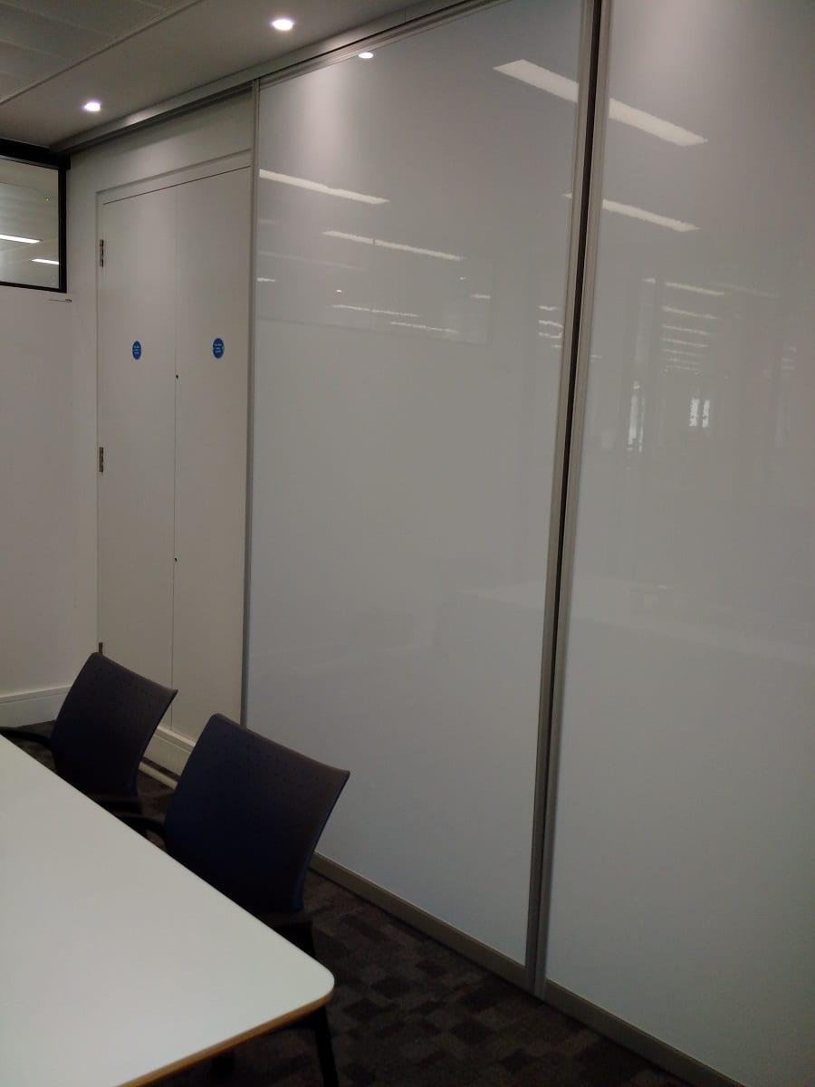 whiteboard sliding rail system
