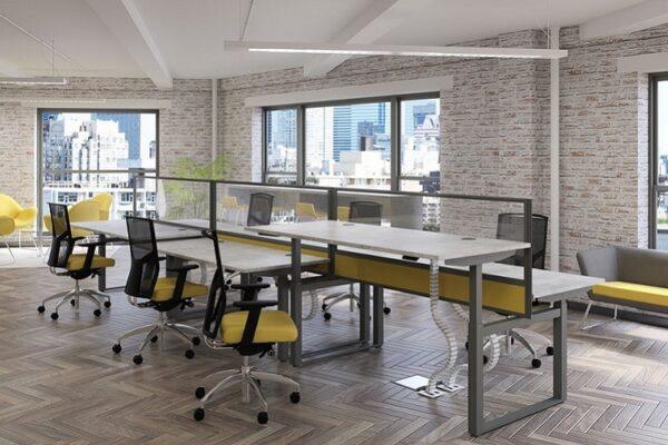 sit stand desks for 6