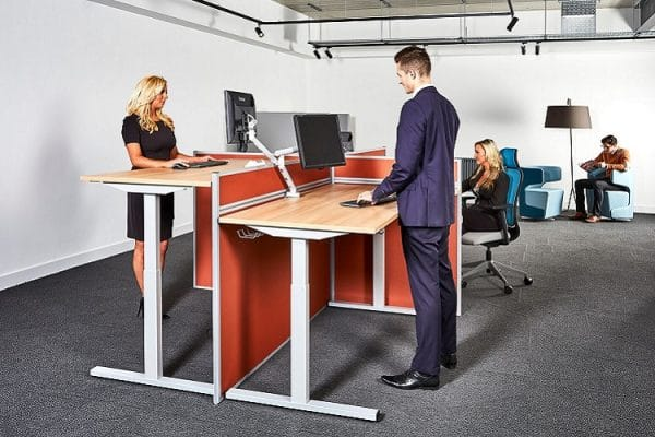 sit stand office desks