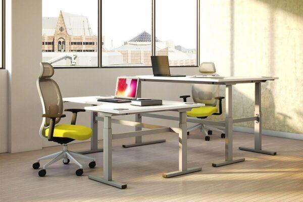 standing height corner desk
